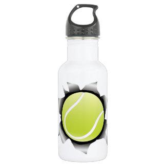 tennis thru metal sheet water bottle