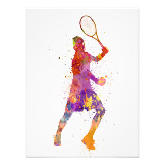 tennis to player celebrating in silhouette 01 photo print