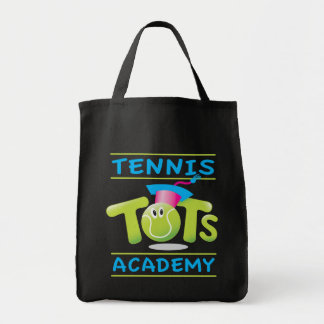Tennis Tots Academy_Bouncee_customizable_on black Bags