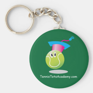 Tennis Tots Academy_Bouncee_personalized_on green Keychain