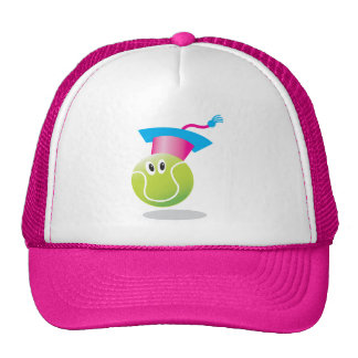 Tennis Tots Academy_Bouncee_pink & white Trucker Hat
