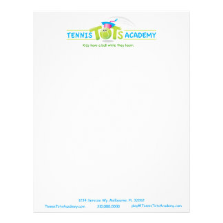 Tennis Tots Academy_Kids have a ball learning Personalized Letterhead