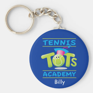 Tennis Tots Academy_personalized_on blue Key Chains