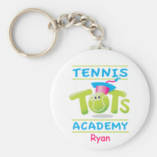 Tennis Tots Academy_personalized_on white Key Chains