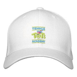 Tennis Tots Academy stacked logo,name,web site Baseball Cap