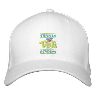 Tennis Tots Academy stacked logo,name,web site Embroidered Baseball Cap