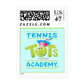 Tennis Tots Academy stacked logo postage