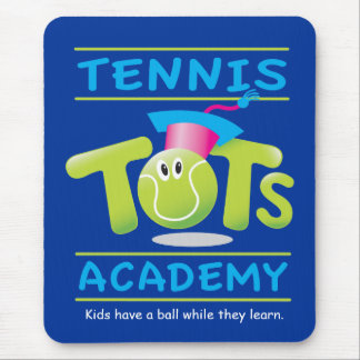 Tennis Tots Academy_w/ tag line on blue Mouse Pad