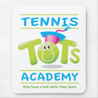Tennis Tots Academy_w/ tag line on white Mouse Pad