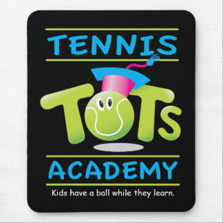 Tennis Tots Academy_w/ tag on black Mouse Pad