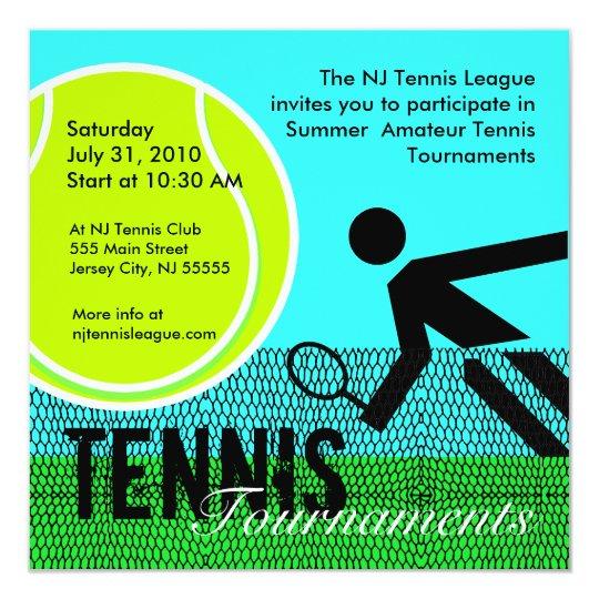 Cricket Tournament Anouncment Wording: Tennis Tournaments Invitation 1