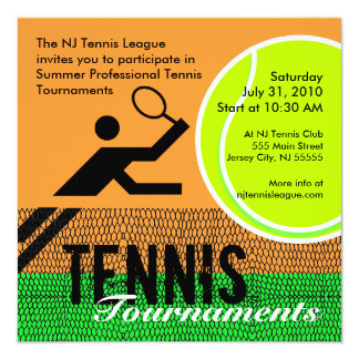 Tennis Tournaments Invitation 2