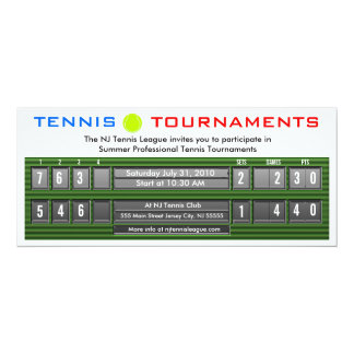 Tennis Tournaments Scoreboard Invitation 3