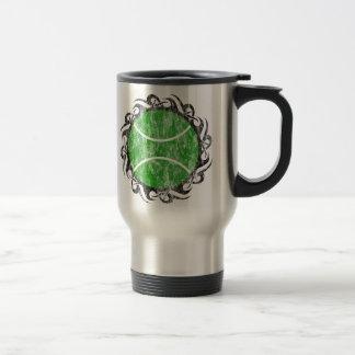 tennis. tribal. coffee mug