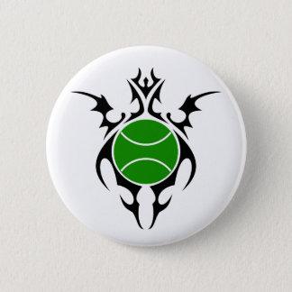 tennis. tribal. pinback button