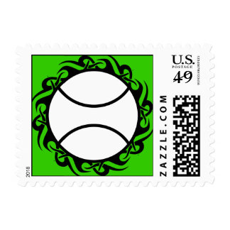 tennis. tribal. postage stamp