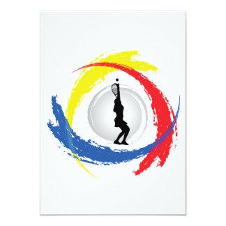 Tennis Tricolor Emblem (Female) Card