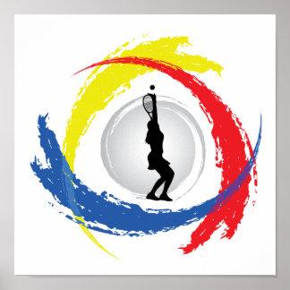 Tennis Tricolor Emblem (Female) Poster