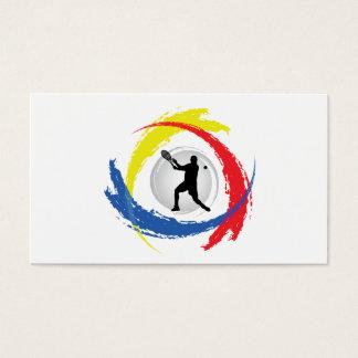 Tennis Tricolor Emblem (Male) Business Card