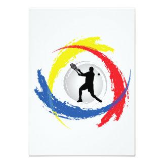 Tennis Tricolor Emblem (Male) Card