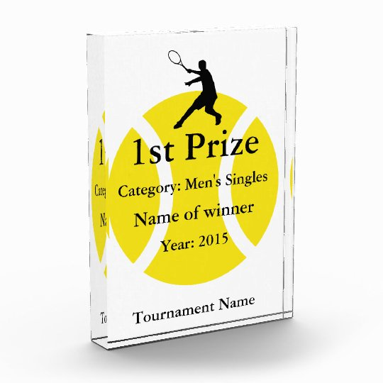 Tennis trophy award | Customizable for tournaments