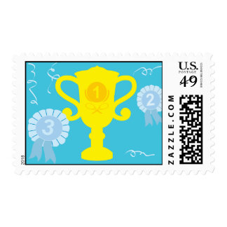 Tennis Trophy Stamp