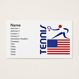 Tennis, United States Business Card