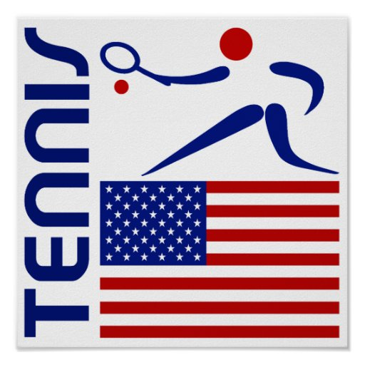 Tennis, United States Poster