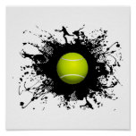 Tennis Urban Style Poster