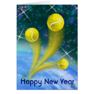 Tennis victory Happy New Year Card