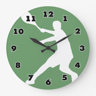 Tennis wall clock with custom background color
