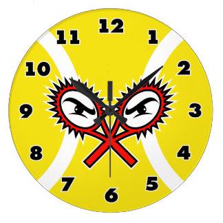 Tennis wall clock with unique design