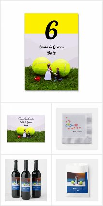 Tennis Wedding Cards, Gifts and Party Supplies