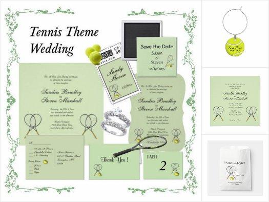 Tennis Wedding Invitation Suite