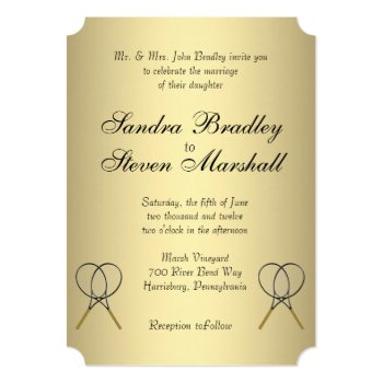 Tennis Wedding Invitations