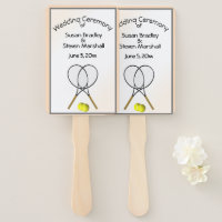 Tennis Wedding Theme Hand Fan