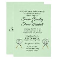 Tennis Wedding Theme Invitations