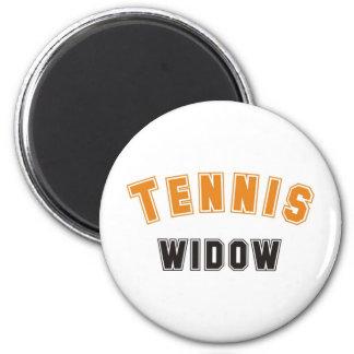 tennis widow 2 inch round magnet