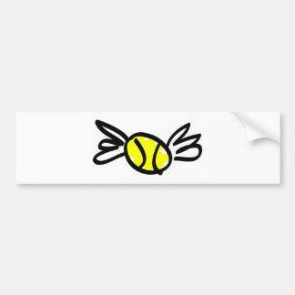 tennis-wings car bumper sticker