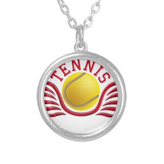 tennis wings colgante redondo