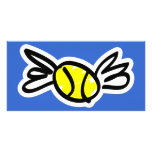 tennis-wings customized photo card