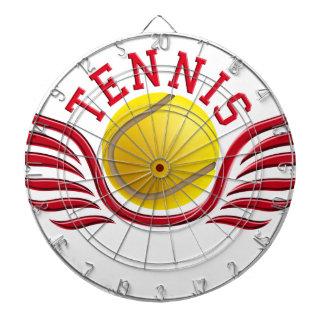 tennis wings dartboard with darts