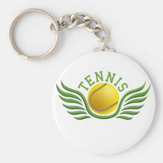 tennis wings keychain