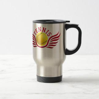 tennis wings 15 oz stainless steel travel mug