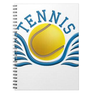 tennis wings notebooks