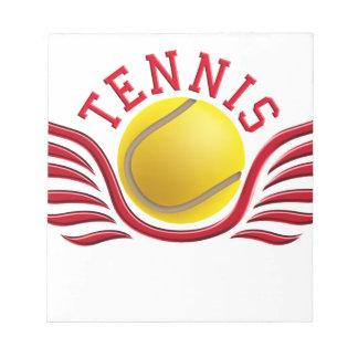 tennis wings notepad