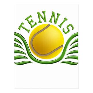 tennis wings postcard