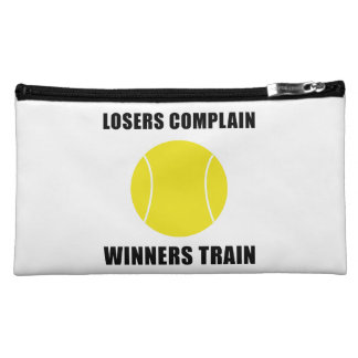Tennis Winners Train Makeup Bag