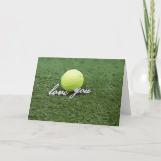 Tennis with love card