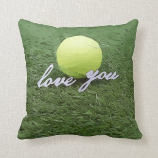 Tennis with love throw pillow